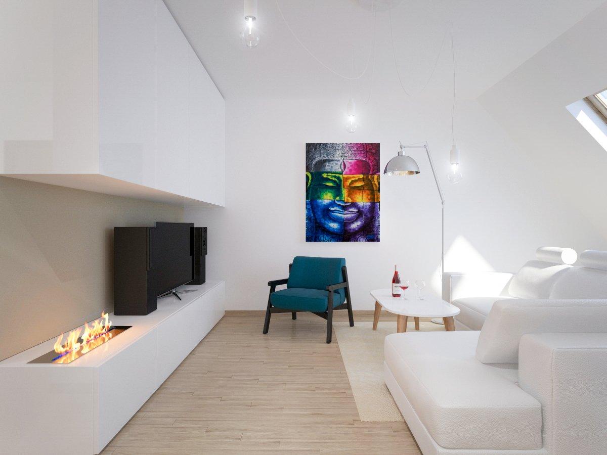 biela obývačka