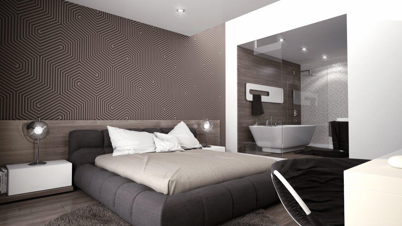 spálňa s kúpeľňou