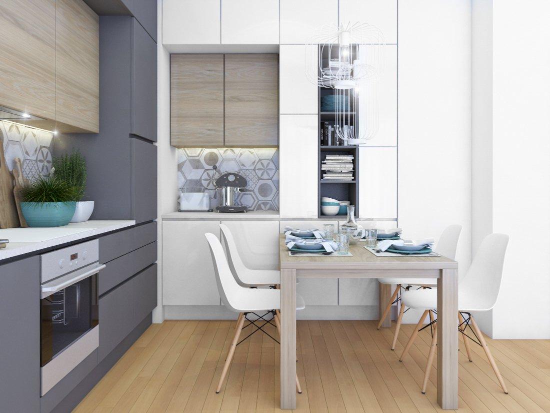 jedáleň s úložným priestorom